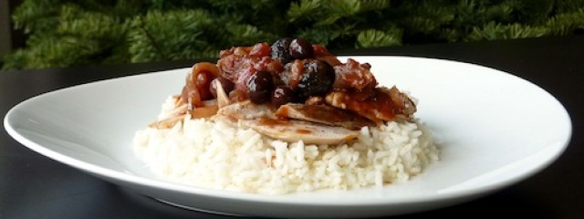 braised chicken with tomatoes and olives