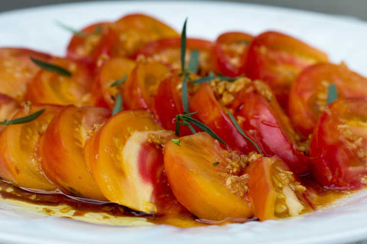 Garlic Gold Tomatoes with Taragon
