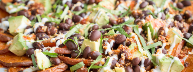 Low Sodium Recipe Sweet Potato Nachos Organic Garlic