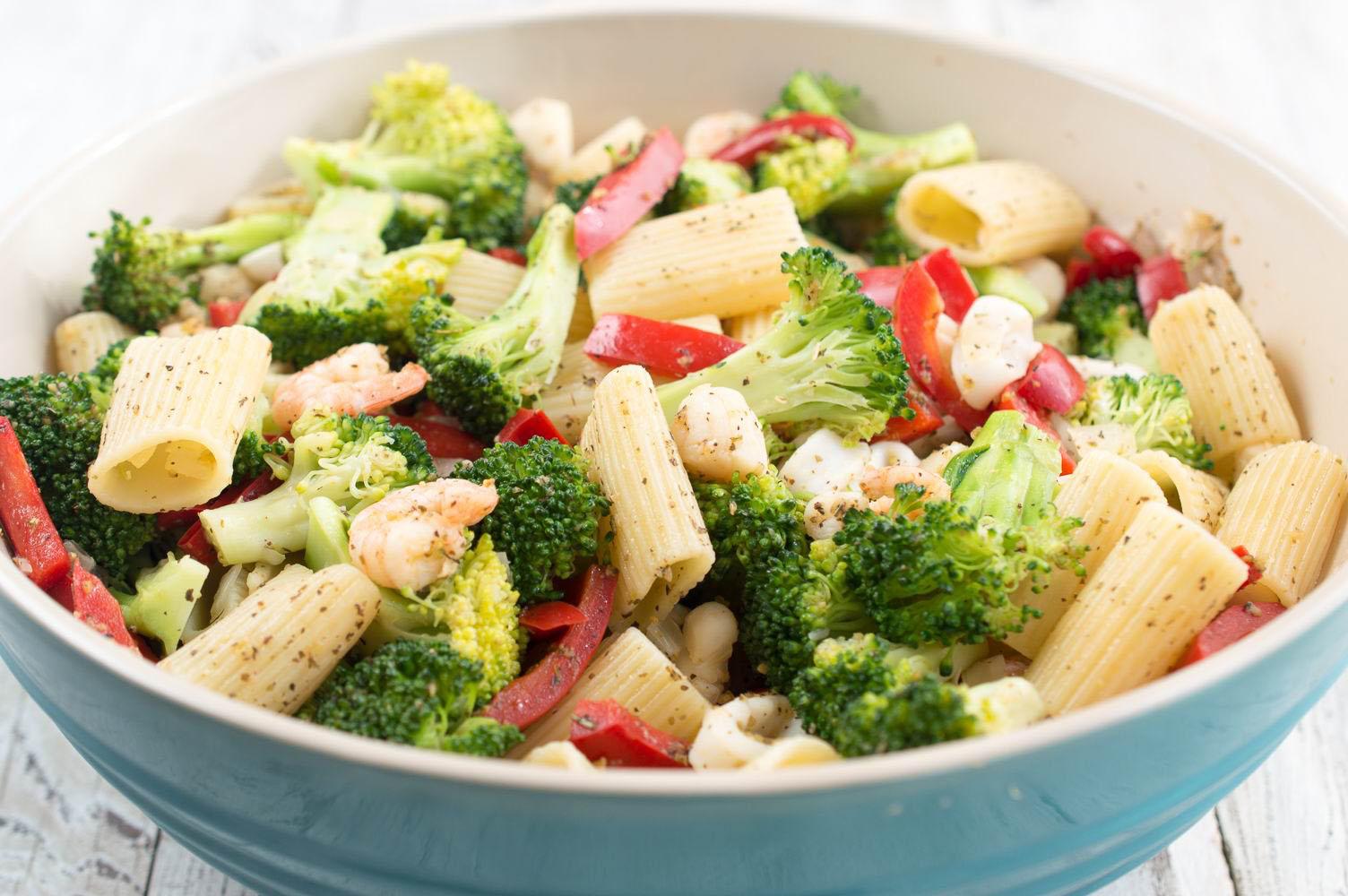 Organic Recipe seafood pasta primavera Organic Garlic Gold