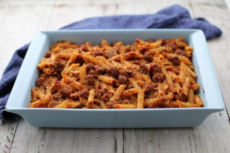 garlic-gold-mini-meatball-pasta-bake-3