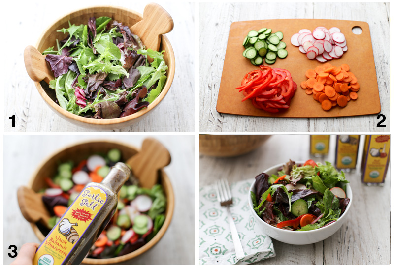 step by step how to make asalad