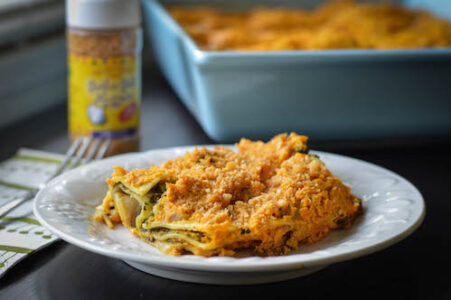 garlic gold winter holiday vegan lasagna
