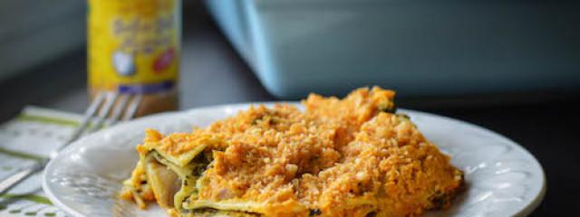 garlic gold winter holiday vegan lasagna