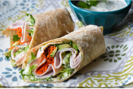 Turkey Wraps with Garlic Sauce