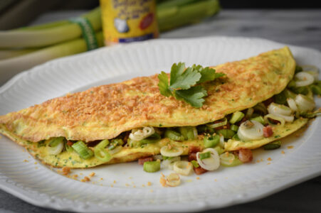 Green Garlic Gold Omelet
