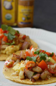 Garlic Breakfast Tacos