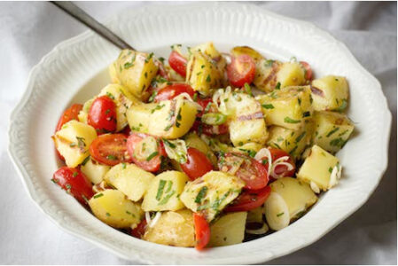 Garlic Grilled Potato Salad