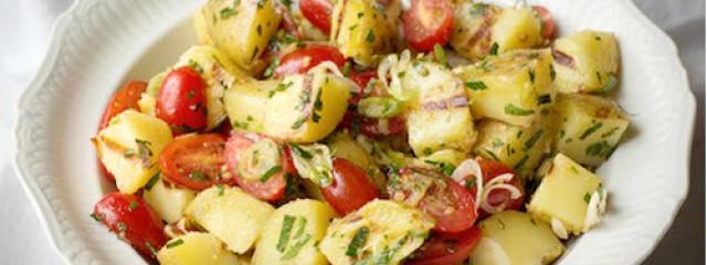 Garlic Grilled Potato Salad