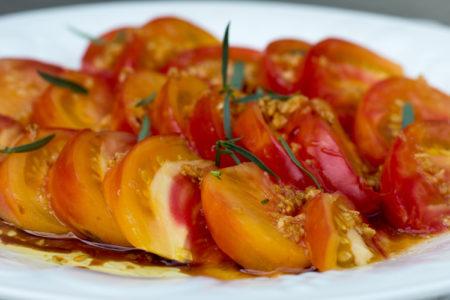 Garlic Gold Tomatoes with Taragon