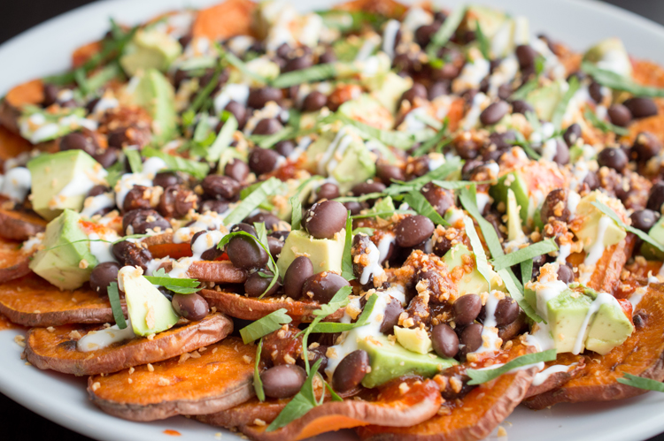 Sweet Potato Nachos Recipe Specialty Foods Organic Garlic