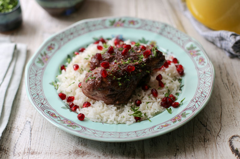 Pomegranate Walnut Chicken Recipe Garlic Gold