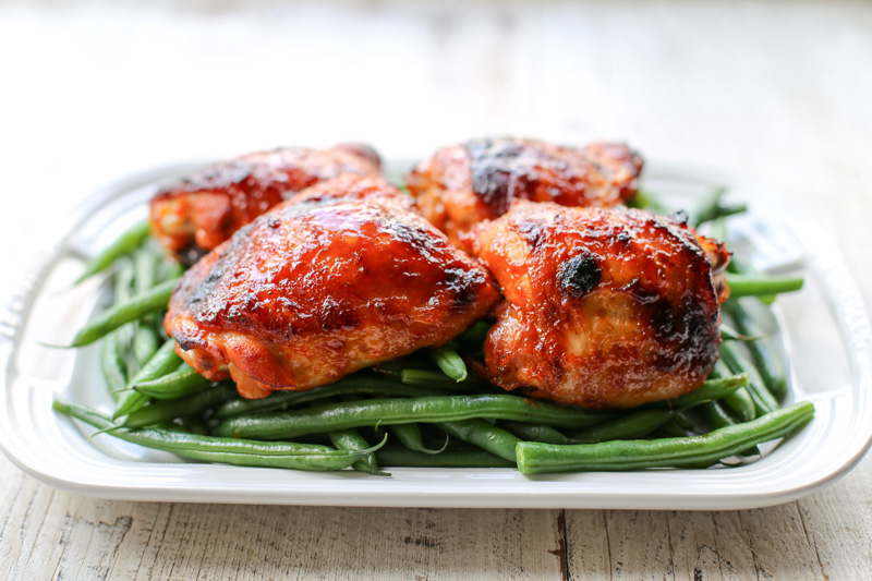 Sriracha Glazed Chicken Thighs Garlic Recipe Easy
